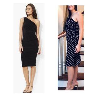 LAUREN One-Shoulder Dress SZ 12
